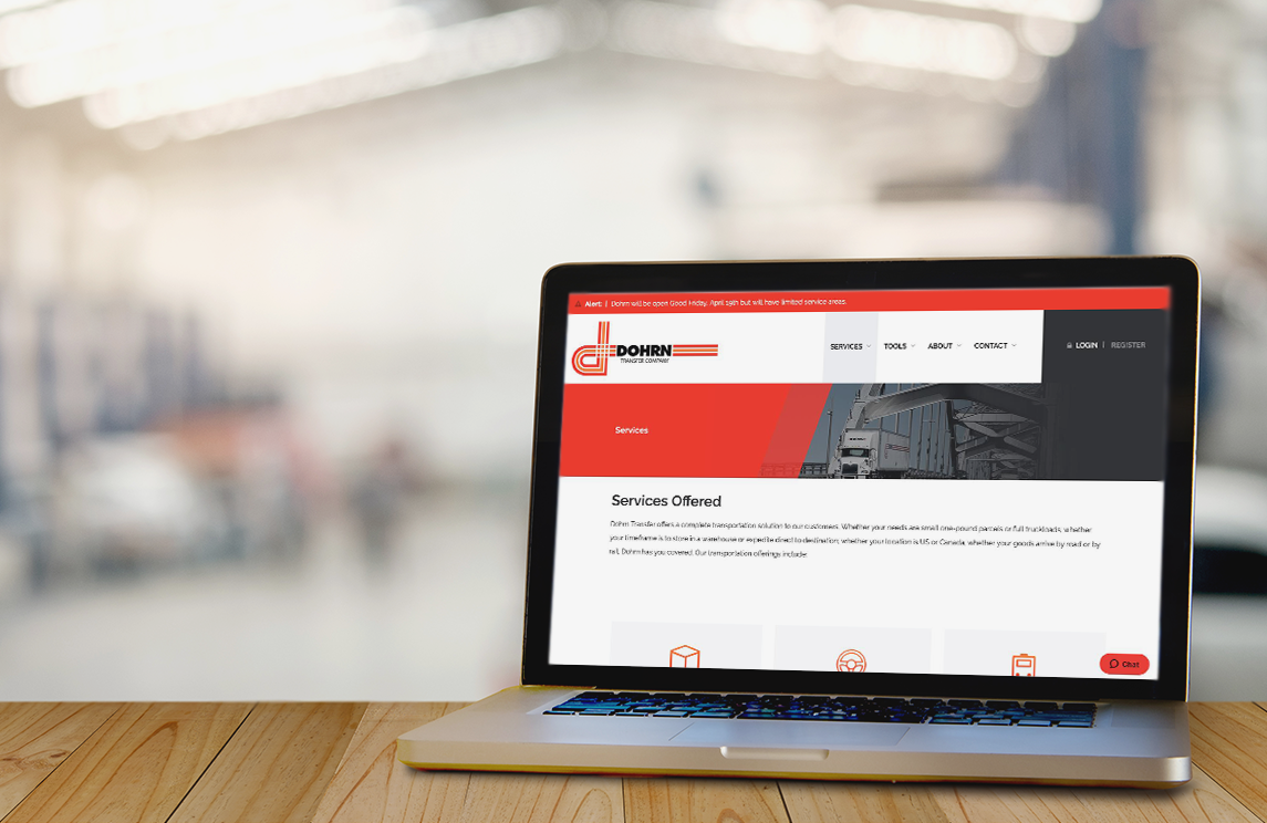 Terrostar's redesign of Dohrn Transfer's website wins two awards