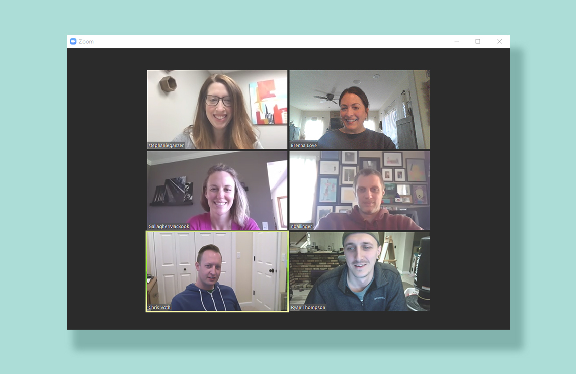 Terrostar Team Zoom call while working remotely
